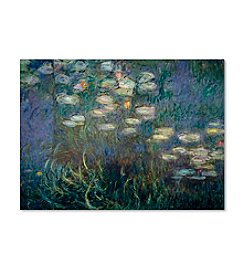 Trademark Fine Art Water Lilies by Claude Monet Canvas Art