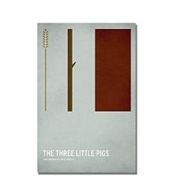 Trademark Fine Art Three Little Pigs by Christian Jackson Canvas Art