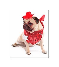Pug Cowboy Canvas Art