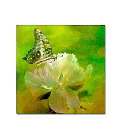 Trademark Fine Art Malachite on Peony by Lois Bryan Canvas Art