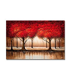Trademark Fine Art Parade of Red Trees Canvas Art
