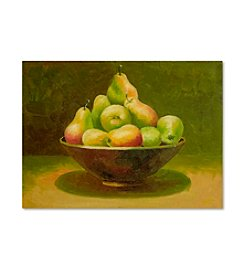 Trademark Fine Art Still Life with Pears Canvas Art