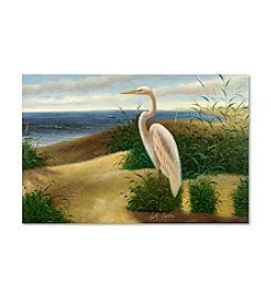 Trademark Fine Art One Heron at the Beach Canvas Art