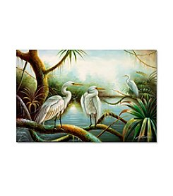 Trademark Fine Art Three Herons Canvas Art