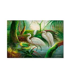 Trademark Fine Art Two Herons Canvas Art