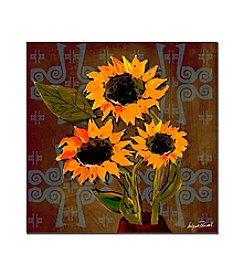 Trademark Fine Art Sunflowers I by Miguel Paredes Canvas Art