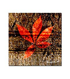 Trademark Fine Art Red Leaves I by Miguel Paredes Canvas Art