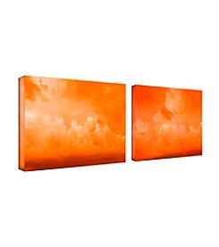 Trademark Fine Art Orange Clouds by Miguel Paredes Canvas Art