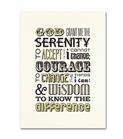 Trademark Fine Art Serenity Prayer I by Megan Romo Canvas Art