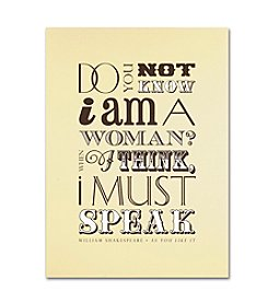 Trademark Fine Art Women Must Speak by Megan Romo Canvas Art