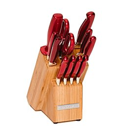 KitchenAid® 12-pc. Candy Apple Stainless Steel Cutlery Set