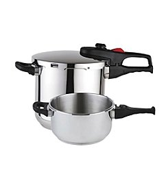 Magefesa® Practika Plus 3-pc. Stainless Steel 4-qt. and 6-qt. Pressure Cooker Set
