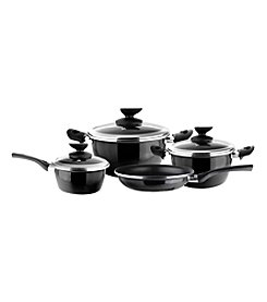 Magefesa® Fit 7-pc. Black Porcelain on Steel Cookware Set