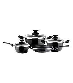 Magefesa® Fit 7-pc. Black Porcelain on Steel Cookware Set