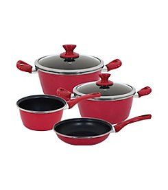 Magefesa® Fit 7-pc. Red Porcelain on Steel Cookware Set