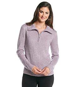 Carolyn Taylor Solid Half Zip Sweater
