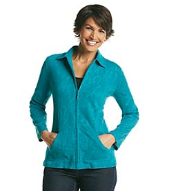 Breckenridge® Petites' Jacquard Knit Jacket With Pockets