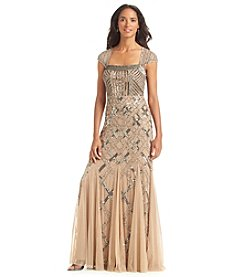 Adrianna Papell® Sequin Beaded Long Formal Dress