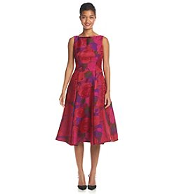Adrianna Papell® Floral Tea Length Dress