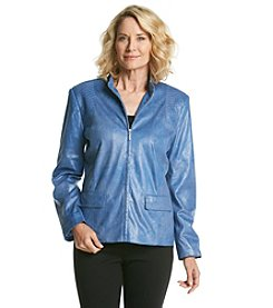 Alfred Dunner® Petites' Metallic Sheen Jacket