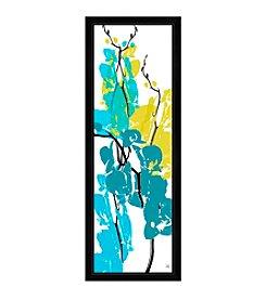 Greenleaf Art Blue & Green Arrangement I Framed Canvas Art