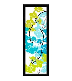 Greenleaf Art Blue & Green Arrangement II Framed Canvas Art