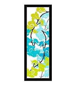 Greenleaf Art Blue & Green Arrangement II Framed Canvas Art