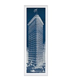 Greenleaf Art Flat Iron Blueprint Panel Framed Canvas Art