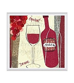 Greenleaf Art Vineyard Collection Merlot Framed Canvas Art