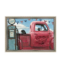 Greenleaf Art Lets Go for a Ride II Framed Canvas Art