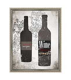 Greenleaf Art Grey Wines Framed Canvas Art