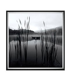 Greenleaf Art Through the Reeds at Dawn Crop Framed Canvas Art