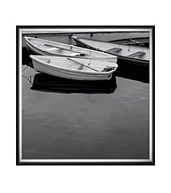 Greenleaf Art A Jumble of Boats Crop Framed Canvas Art