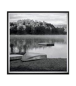 Greenleaf Art Morning Mist Rising Framed Canvas Art