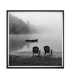 Greenleaf Art Contemplating the Morning Mist Framed Canvas Art