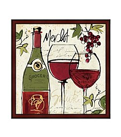 Greenleaf Art Wine Not Collection Merlot Framed Canvas Art