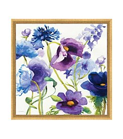 Greenleaf Art Blue and Purple Mixed Garden I Framed Canvas Art