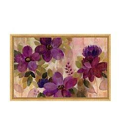 Greenleaf Art Radiant Purple Flowers Framed Canvas Art