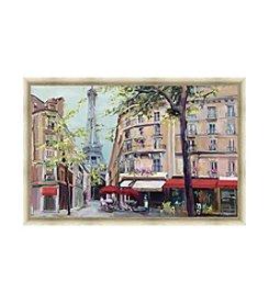 Greenleaf Art Springtime in Paris Framed Canvas Art