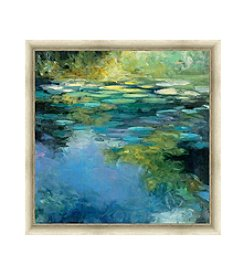 Greenleaf Art Water Lilies III Framed Canvas Art