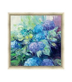 Greenleaf Art Bright Hydrangea III Framed Canvas Art