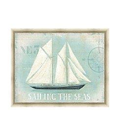 Greenleaf Art Sailing The Seas Framed Canvas Art