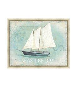 Greenleaf Art Seas the Day Framed Canvas Art