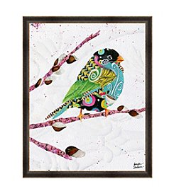 Greenleaf Art Bird on Branch Framed Canvas Art
