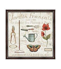 Greenleaf Art Royal Garden Jardin Francais Framed Canvas Art