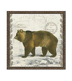 Greenleaf Art Regal Woodland Collection Bear Framed Canvas Art