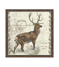 Greenleaf Art Regal Woodland Collection Deer Framed Canvas Art