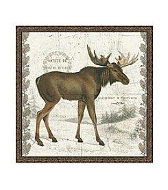 Greenleaf Art Regal Woodland Collection Moose Framed Canvas Art