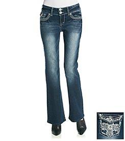 Wallflower® Flap Pocket Bling Back Curvy Bootcut Jeans