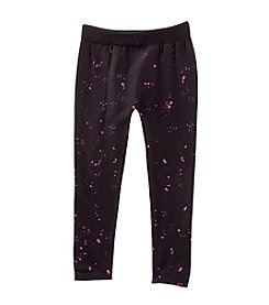 Squeeze® Girls' 4-14 Pink Splatter Fleece Lined Leggings
